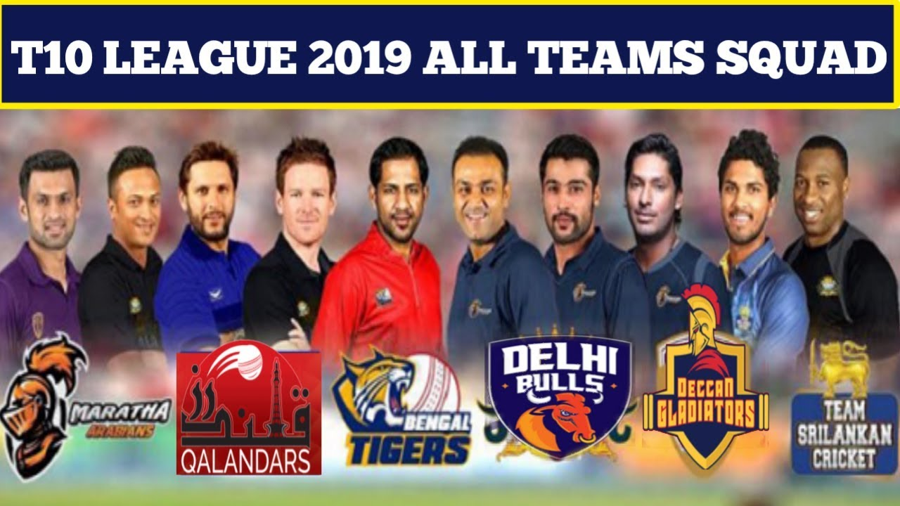 T10 League 2019 Live Streaming